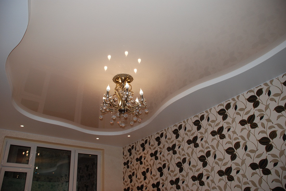 Stretch ceilings satin. Distinctive features of the material, advantages and disadvantages 5