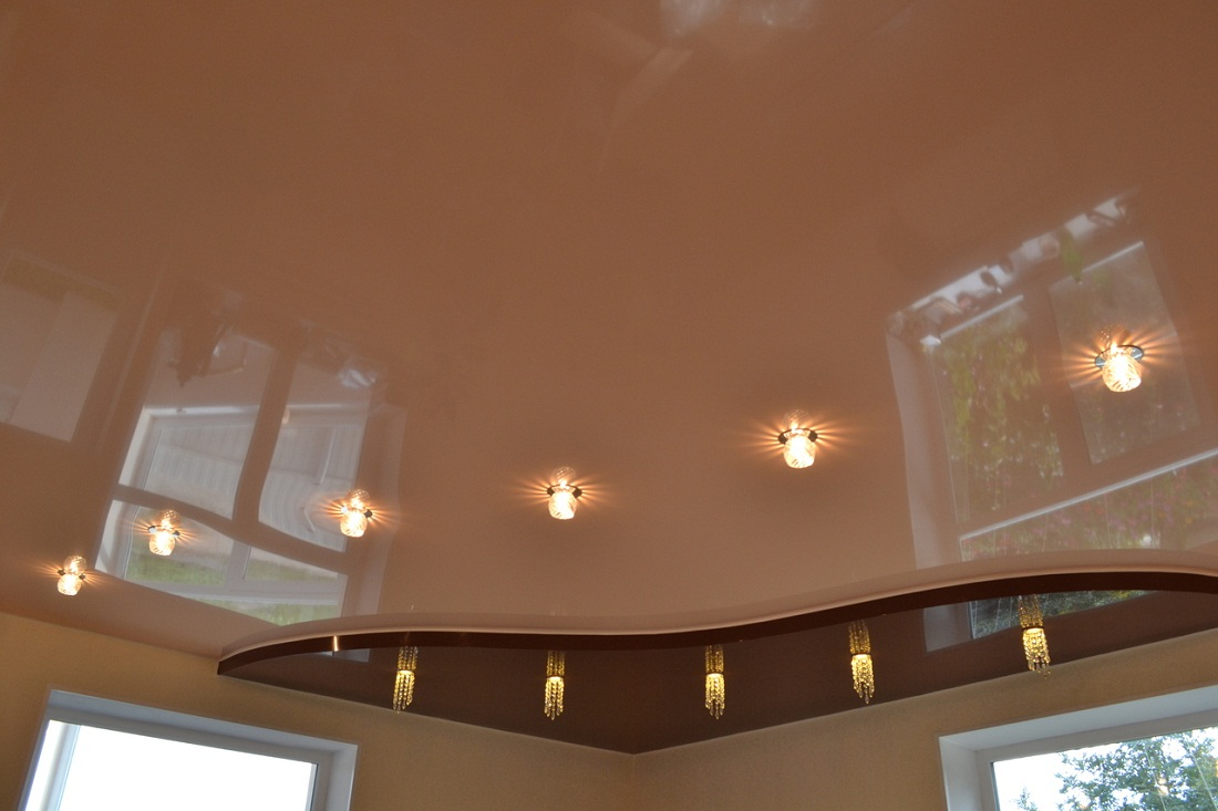 Stretch ceilings satin. Distinctive features of the material, advantages and disadvantages 56